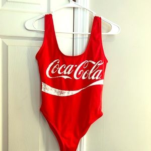 Coca-cola swim/bodysuit